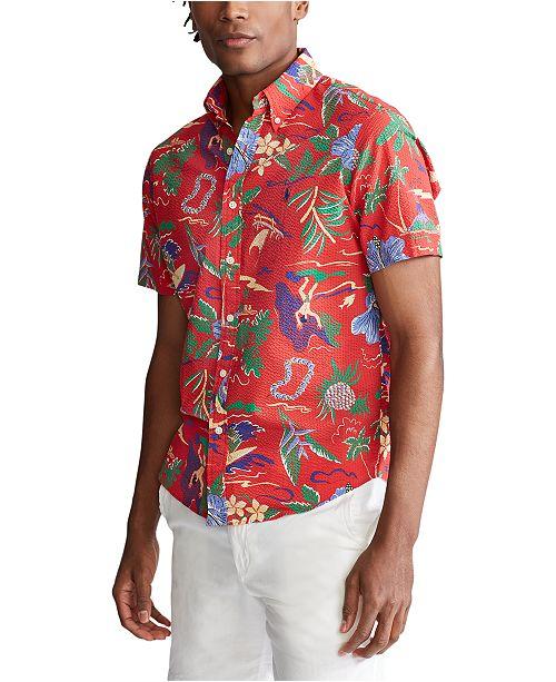 Polo Ralph Lauren Men S Classic Fit Hawaiian Print Seersucker