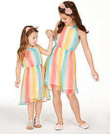 Epic Threads Little & Big Girls Striped High-Neck Dresses, Created for Macy's