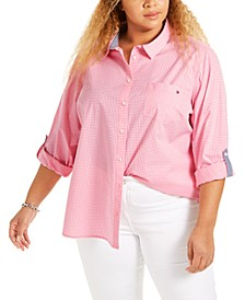 Plus Size Roll-Tab Shirt