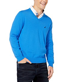 Men's Lightweight Jersey V-Neck Sweater