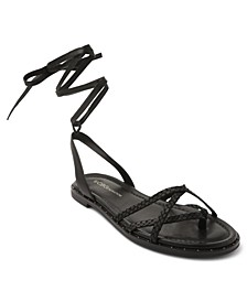Zillo Lace Up Flat Sandals