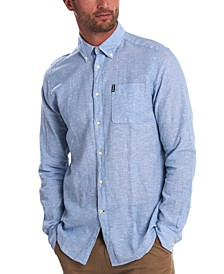 Men's Miltan Solid Textured Shirt
