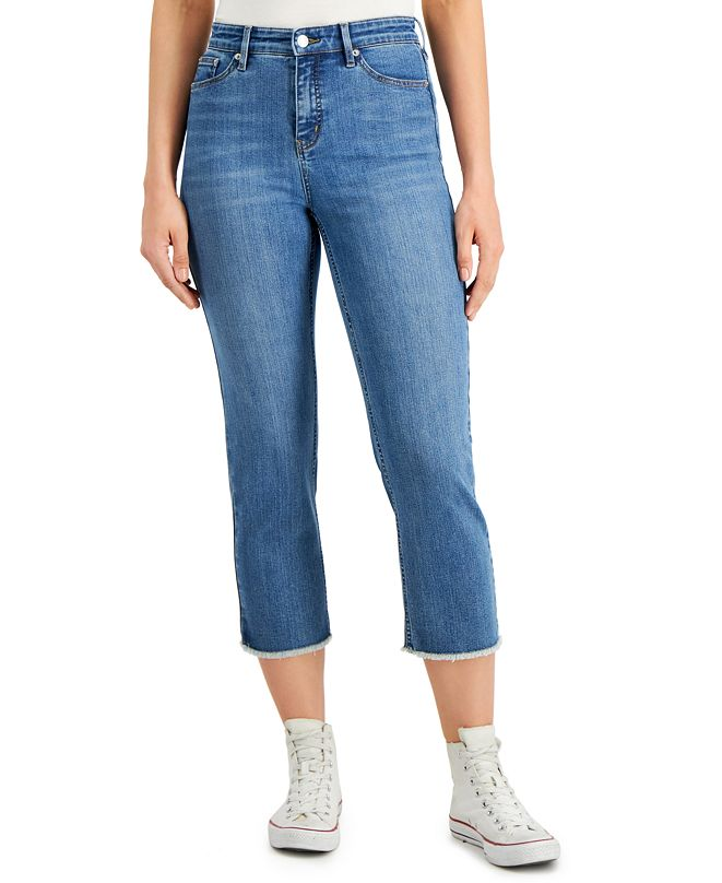 Calvin Klein Jeans High-Rise Tummy-Control Cropped Jeans