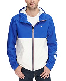 Men's Colorblocked Logo Rain Slicker