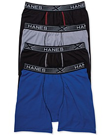 Men's 4-Pk. X-Temp Boxer Briefs