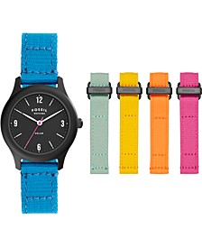 Women's Solar Interchangeable Woven Strap Watch 34mm - Earth Day Limited Edition