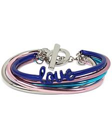 Multi-Tone Love Multi-Row Bangle Bracelet