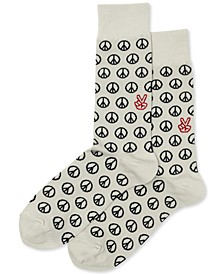 Men's Peace Crew Socks