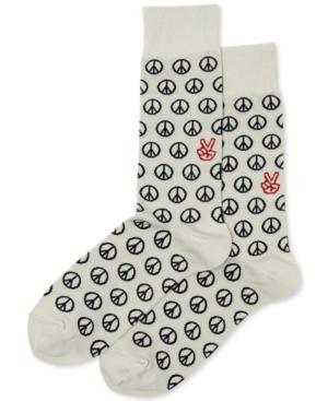 Hot Sox Men's Peace Crew Socks