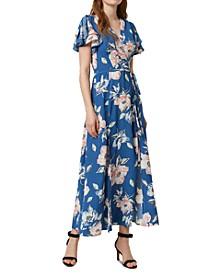 Cari Flutter-Sleeve Maxi Dress