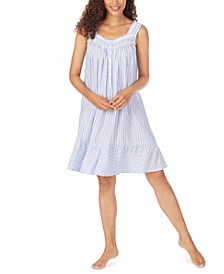 Striped Eyelet Lace Nightgown