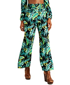 Smocked Printed Wide-Leg Pants, Created for Macy's
