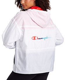 Champion Women's Stadium Colorblocked Water-Resistant Windbreaker