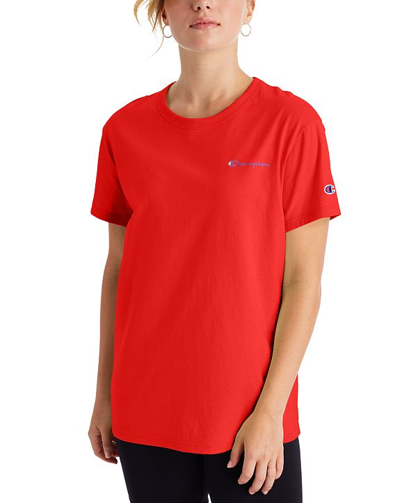 Champion Women's Cotton Logo Boyfriend T-Shirt