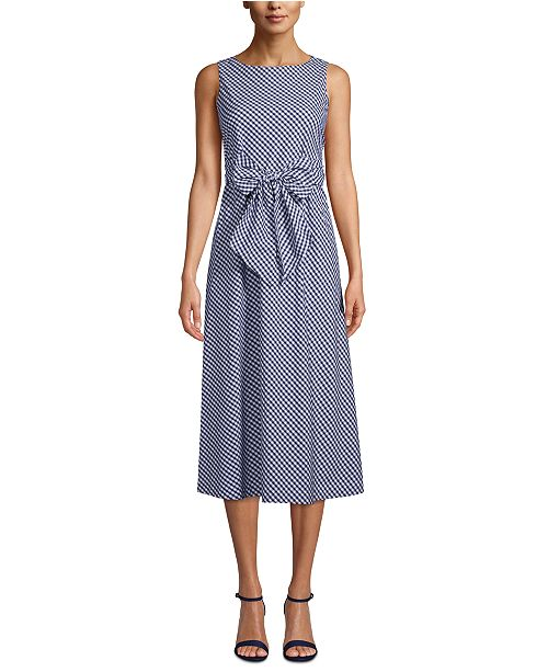 Anne Klein Cotton Gingham Dress