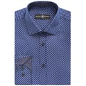 Society of Threads Men's Slim-Fit Stretch Square Print Dress Shirt