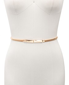 INC Metal Stretch Belt With Interlock Pyramid Buckle, Created for Macy's