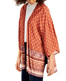 Juniors' Lace-Back Kimono
