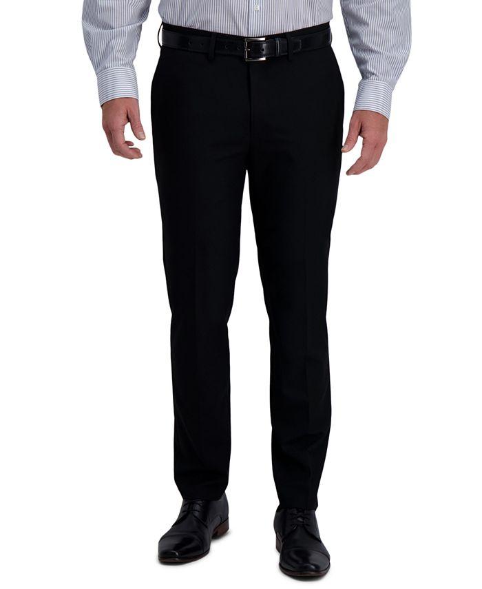 Haggar - Men's Slim-Fit 4-Way Stretch Solid Dress Pants