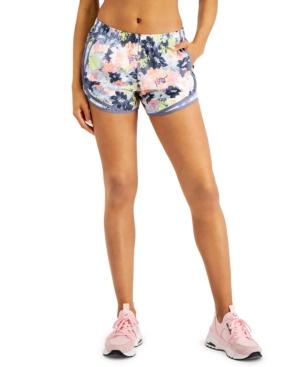 Calvin Klein Performance Printed Running Shorts In Blooms Sakura Combo