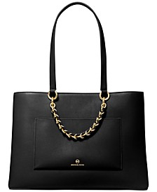 Cece Medium Ribbon Chain Leather Tote