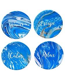 Fluidity 4-Pc. Canape Plates asst.