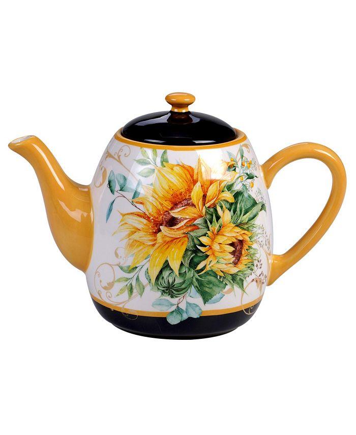 Certified International - Sunflower Fields Teapot
