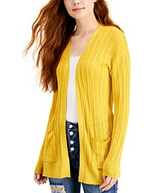 Juniors' Light-Rib Cardigan