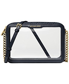Jet Set East West Clear Signature Logo Crossbody