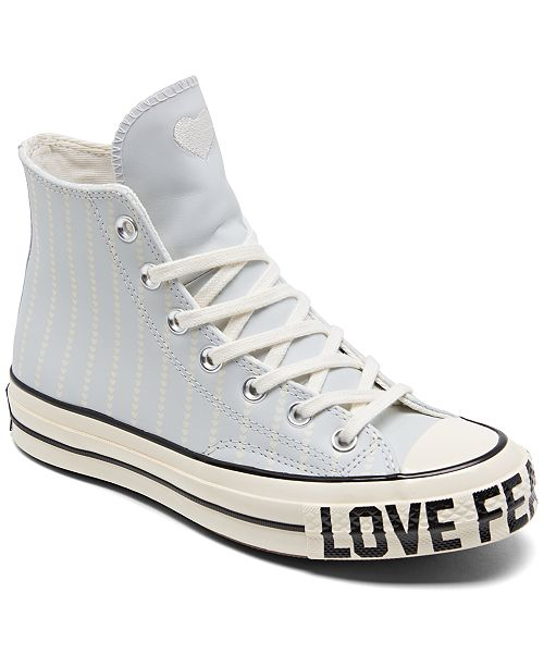 Women's Chuck Taylor 70 Love Fearlessly High Top Casual Sneakers from  Finish Line