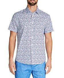 Men's Slim-Fit Stretch Floral Shirt