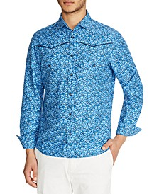 Tallia Men's Slim-Fit Western Floral Shirt and a Free Face Mask With Purchase
