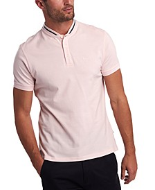Men's Galloch Tipped Baseball-Collar Polo Shirt