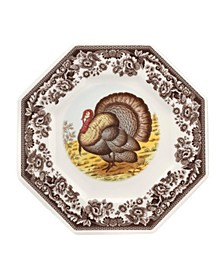 Woodland Turkey Octagonal Plate