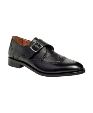 Men's Roosevelt Iii Single Monkstrap Wingtip Goodyear Dress Shoes Men's Shoes