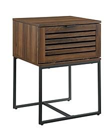 """18"""" Modern Slat Door Side Table"""
