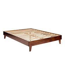 Solid Wood Platform Bed, Queen Size