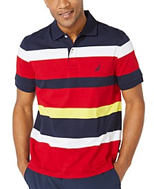Men's Big & Tall Classic-Fit Performance Striped Jersey Polo Shirt