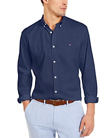 Men's Big & Tall Chris Custom-Fit Performance Stretch Textured Shirt