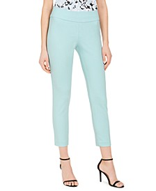 Crepe Pull-On Slim-Leg Ankle Dress Pants
