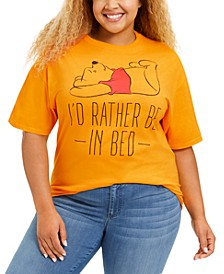 Trendy Plus Size Cotton Pooh Graphic T-Shirt