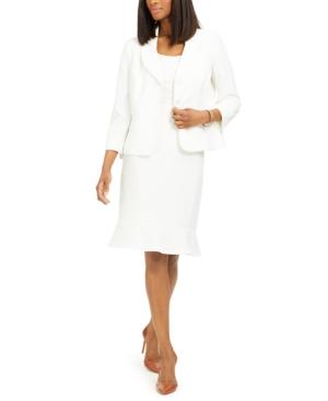 Flared-Hem Skirt Suit