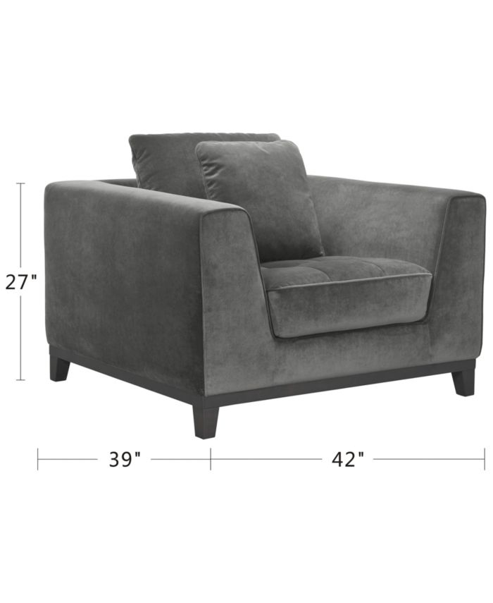 """Furniture Trentley 42"""" Fabric Chair & Reviews - Furniture - Macy's"""