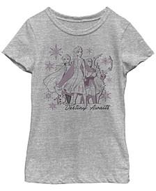 Big Girls Frozen 2 Destiny Awaits Short Sleeve T-shirt