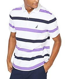 Men's Classic-Fit Interlock Stripe Polo Shirt