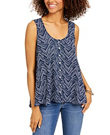 Printed Swing Blouse, Created for Macy's