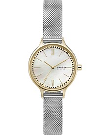 Women's Anita Stainless Steel Mesh Strap Watch 30mm