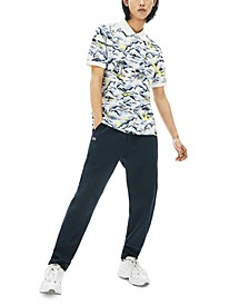 Men's Surfing Graphic Mini Pique Polo Shirt