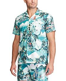 Men's Tropical-Print Pajama Shirt