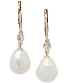 Gold-Tone Crystal & Mother-Of-Pearl Drop Earrings